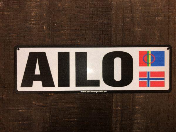 barnevognskilt med to flagg