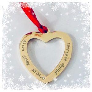 Personlig gravert julepynt